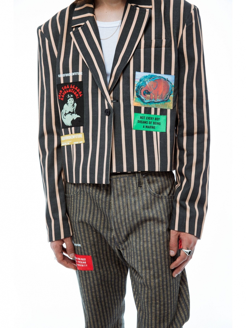 DADDY SUIT CROPPED JACKET