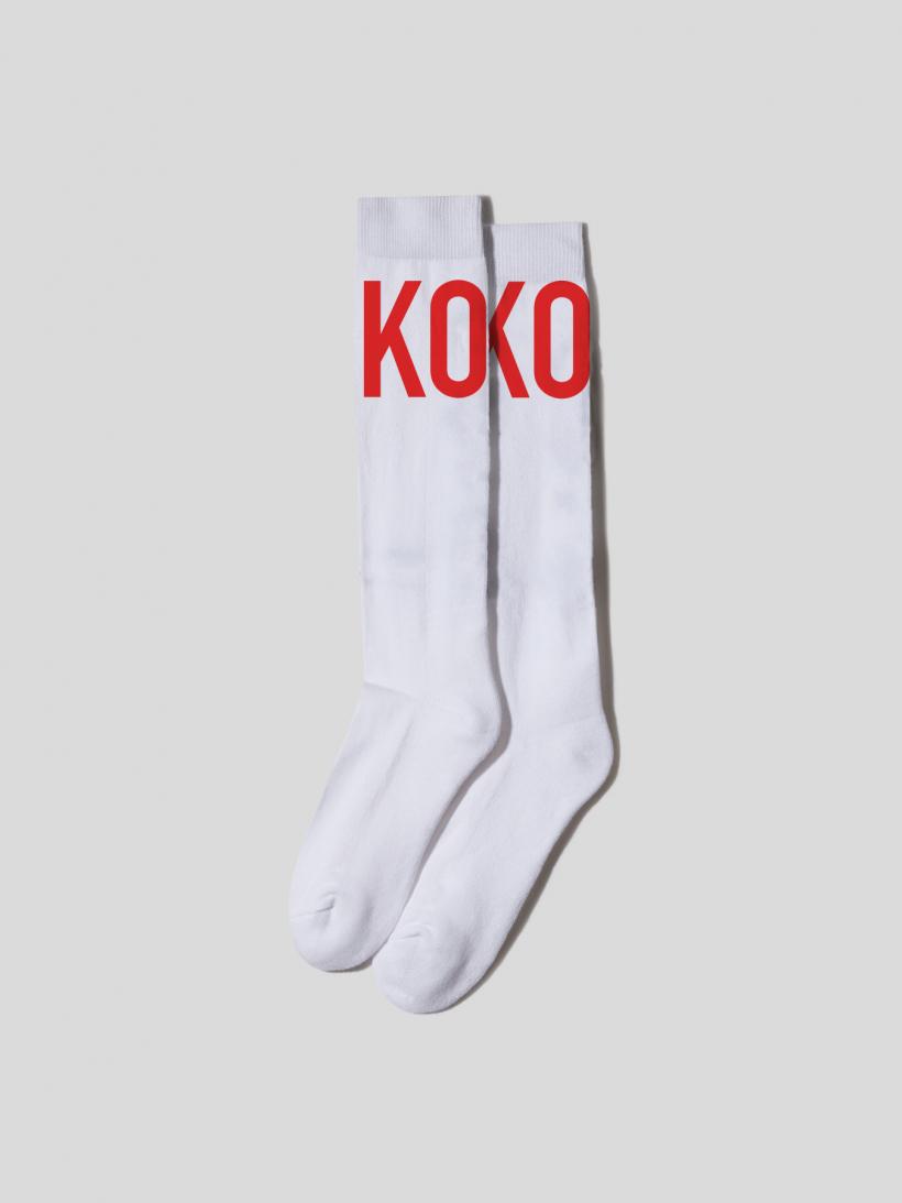 RED LOGO SOCKS